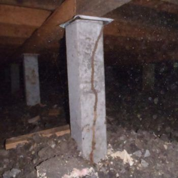 Termite Pillar Damage